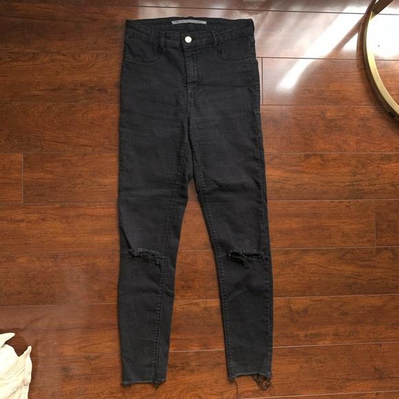 Zara Denim - ZARA Jegging Skinny Jeans With Knee Rip